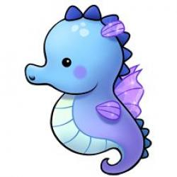 Dolphines clipart seahorse