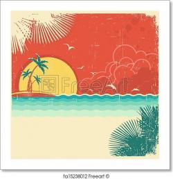 Seascape clipart island background