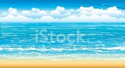 Seascape clipart tropical climate