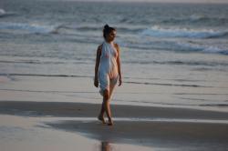Seashore clipart evening