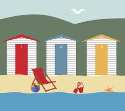 Hut clipart seaside