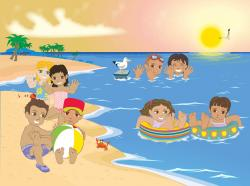 Leisure clipart summer scene