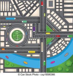 Drawn roadway graphic design