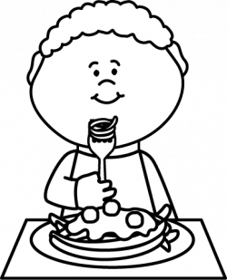Pasta clipart boy eating