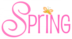 Text clipart spring