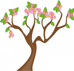 Tree clipart in bloom