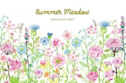 See clipart flower meadow