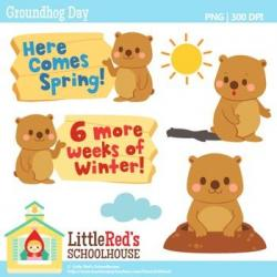 Groundhog clipart early spring
