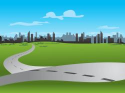Urban clipart roadways