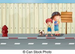 Sidewalk clipart street