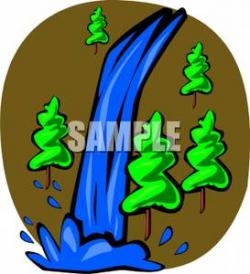 Stream clipart waterfall