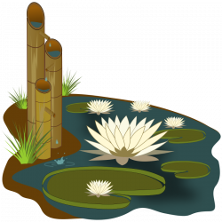 Reed clipart pond scene