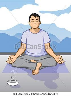 Meditation clipart man meditation