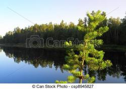 Serene clipart lake