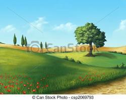 Farmland clipart italy
