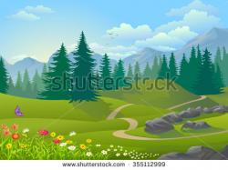 Serene clipart snow mountain