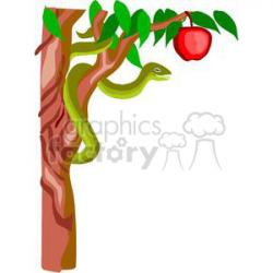 Tree Python clipart adam and eve