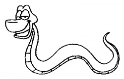 Anaconda clipart black and white