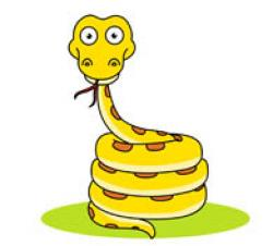 Python clipart coiled snake