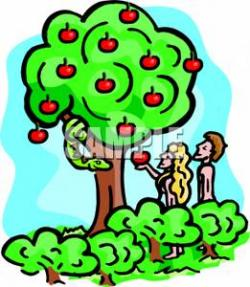 Tree Snake clipart adam and eve