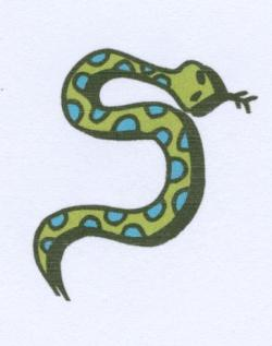 Serpent clipart s shape