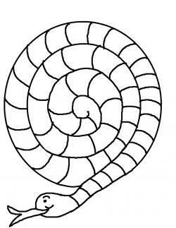 Serpent clipart spiral