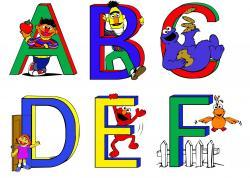 Sesame Street clipart alphabet