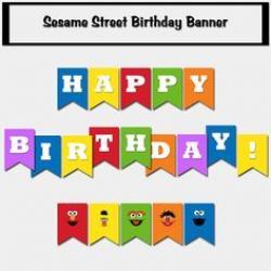 Sesame Street clipart happy birthday