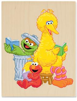 Sesame Street clipart reading