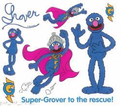 Sesame Street clipart super grover