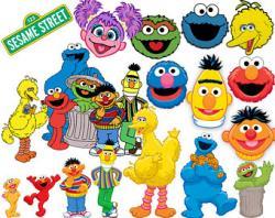 Sesame Street clipart vector