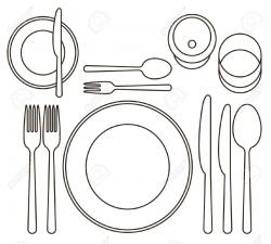 Cutlery clipart table setting