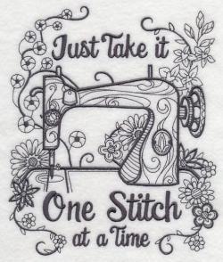 Sewing Machine clipart quilt block