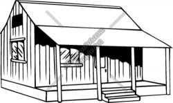 Hut clipart old shack