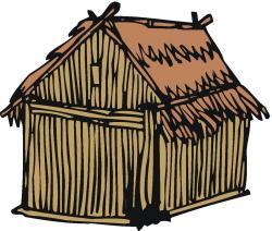 Shack clipart grass hut