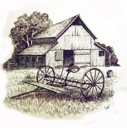 Watermill clipart old barn