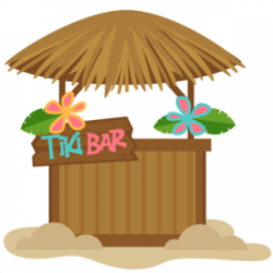 Shack clipart tiki bar