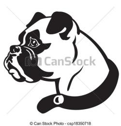 Head clipart boxer dog