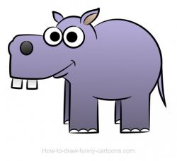 Drawn hippo baby hippo