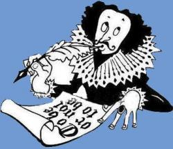 Caricature clipart shakespeare
