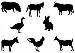 Wildlife clipart silhouette