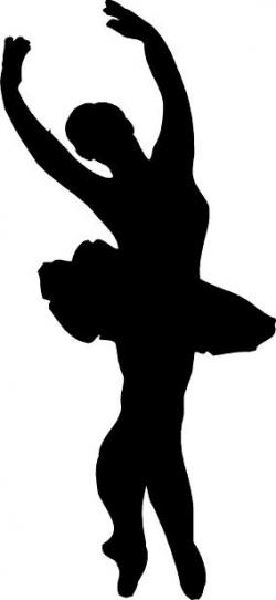 Ballet clipart black and white