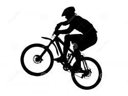 Biker clipart silhouette