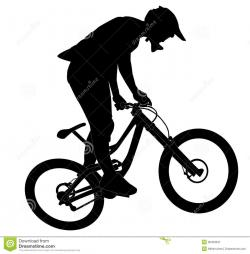 Pushbike clipart downhill