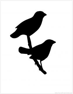 Blackbird clipart bird shadow