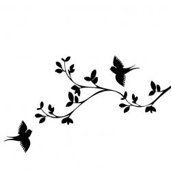 Flock Of Birds clipart stencil art