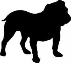 English Bulldog clipart silhouette