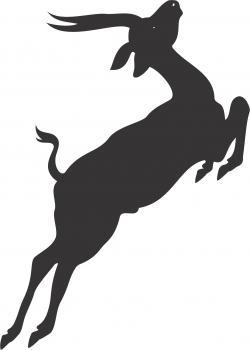 Gazelle clipart jumping