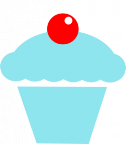 Cupcake clipart teal