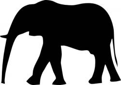 Asian Elephant clipart elephant outline